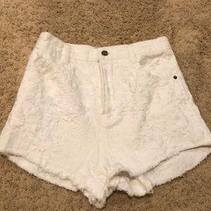 Free people white denim shorts 27
